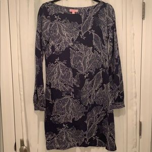 Lilly Pulitzer Silk/Cotton Long Sleeve Dress